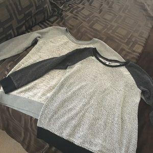 Bundle of 2 maternity sweatshirts